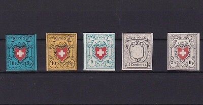 Early Switzerland Imperf Stamps Replica Stamps  R 2371