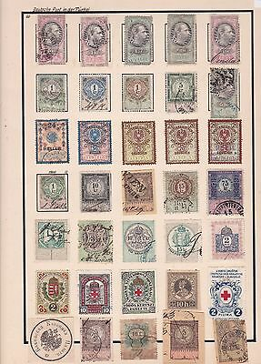 Old World Mixed & Austria  Revenue Stamps On  1 Album Page      R 3319