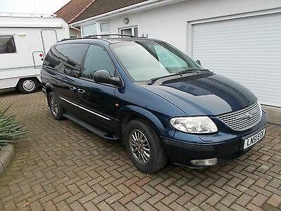 2002 Chrysler Grand Voyager Limited Auto Blue