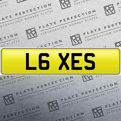 L6 Xes Lexie Lexe Cherished Private Number Plate Dvla Registration
