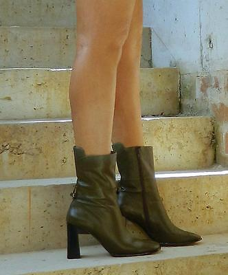 VINTAGE Urban Soul Rock Chic Leather Ankle Boots Size 9