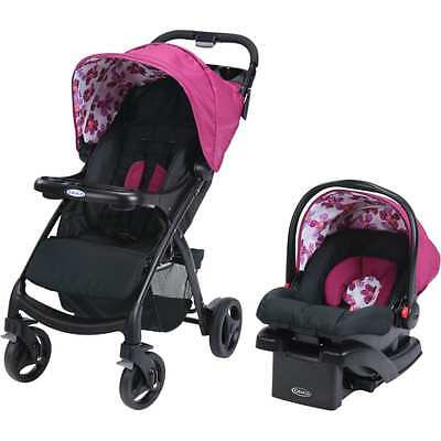 Graco Verb Click Connect Travel System, with SnugRide Click Connect 30 Infant Ca