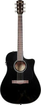 Fender Acoustic Electric Guitar CD-60CE  Electro Acoustic Cutaway Black NEW