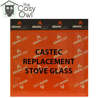 Castec Replacement Stove Glass - Heat Resistant Glass For Castec Stoves