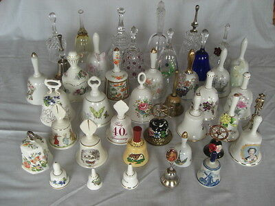 41 Assorted china, glass and metal bells.