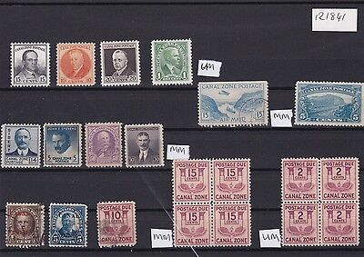 United States Canal Zone Mixed Stamps And Postage Due  Stamps Ref R 1841