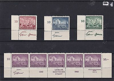 Germany Occupied Poland Stamps Mounted Mint     R 2244