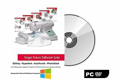 Singer Futura Windows PC Software - AutoPunch, Editing, Hyperfont & Photostitch