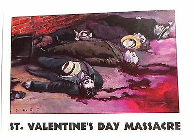 "TRUE CRIME Trading Card - ""ST. VALENTINE'S DAY MASSACRE"" - Card # 14 - Series 1"