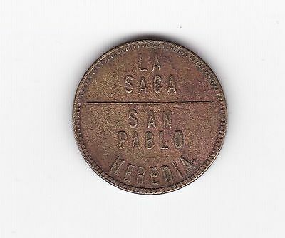 Costa Rica: Coffee Token - Julio Sanchez Lepiz - La Saca - Heredia
