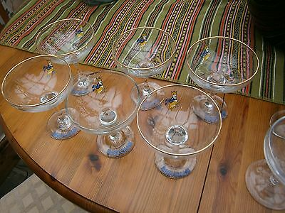 Vintage Set Of Matching  6 Babycham Glasses And Two Others