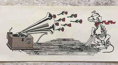 The Grateful Dead,Sticker,His Master's Voice,Artwork By Tribal Ink,New Old Stock