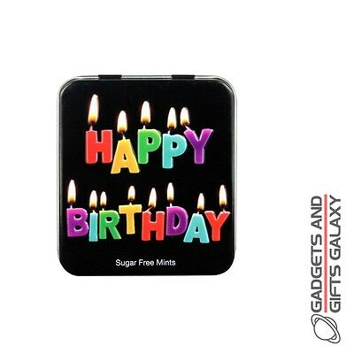 HAPPY BIRTHDAY TIN OF MINTS Adults gifts toys games and gadgets