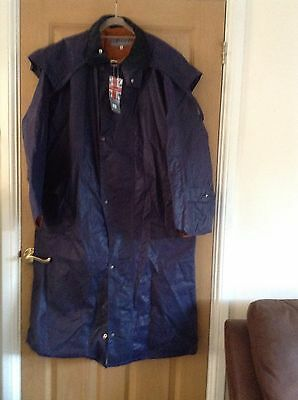 Mens Waxed Stockman Coat Size L BNWT