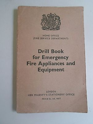 RARE Fire Service Drill Book For Emergency Fire Appliances+Equipment 1960+Pics