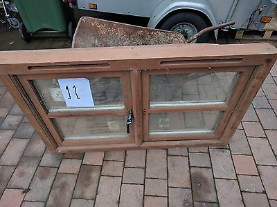 Mahogany Wooden Double Glazed Window Frame With Glass Units 1205 x 750mm - Used.