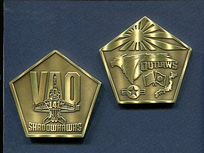 VAQ-141 SHADOWHAWKS Challenge Coin US NAVY E/A-18 GROWLER Squadron Patch Image