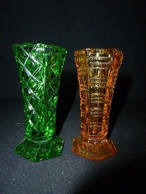 Two Small Vintage Glass Vases