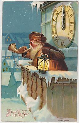 Pc Father Christmas Santa Claus, Christmas Card Posted 1905