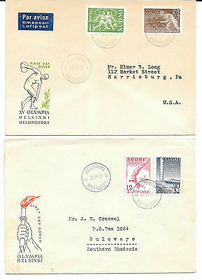 FINLAND 1951/52 Olympic Games 2 sets each on FDC, Facit 403/4&409/10,fine