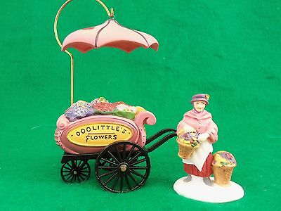"Dept 56 Dickens Accessory ""Chelsea Market Flower Monger & Cart"" Set of 2 #5815-7"