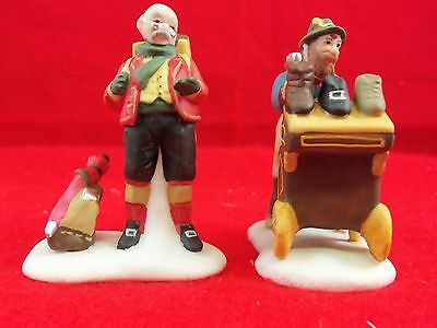 "Dept. 56 Dickens Accessory. ""Cobbler & Clock Peddler"" Set of 2 In Box VGCond See"