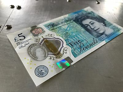 New Polymer RARE £5 Five Pound Note AA01 188464 LOW SERIAL NUMBER British