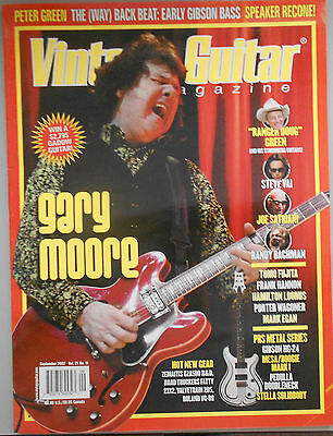 Vintage Guitar Magazine - Back Issue September 2007 Gary Moore, Peter Green, Vai