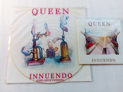 "Queen - Innuendo - UK 1989 etched 12"" EP + 7"" single. Superb copies"
