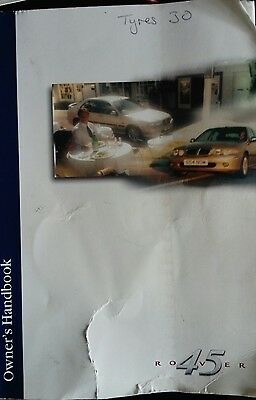 ROVER 45 Owners Handbook and Folder. And in car entertainment booklet