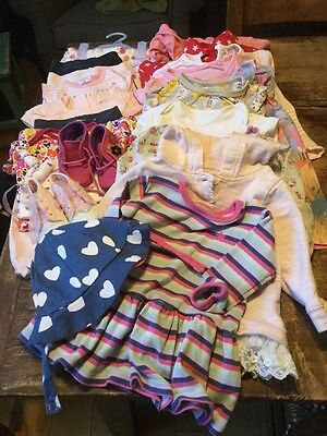 Baby Girls Clothes Bundle 0 - 9 Months 22 Items Next Mothercare etc..