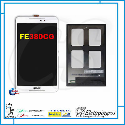 Vetro Touch screen Bianco + Display LCD Asus Fonepad 8 FE380CG K016 3G