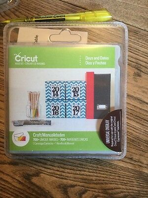 Cricut Days And Dates Unlinked Cartridge