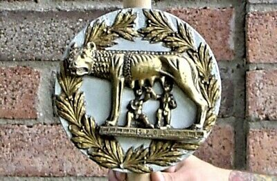 Roman Romulus Remus suckling she wolf standard sign signa signifer cold cast