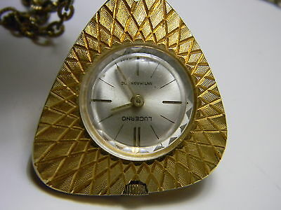 LUCERNO Quartz necklace  watch working new buttery in