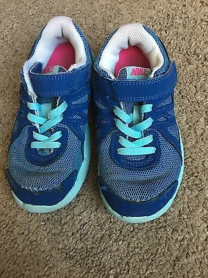 Girl's Nike Athletic Shoes Blue Size 11.5