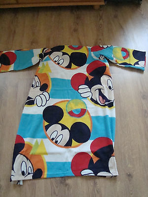 Disney Mickey Mouse Fleece Blanket with sleeves 90cms x 120cms approx