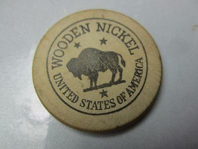 Vintage Wooden Nickel USA 5-cent Off to see Scalphunters, Loew's State Theatre