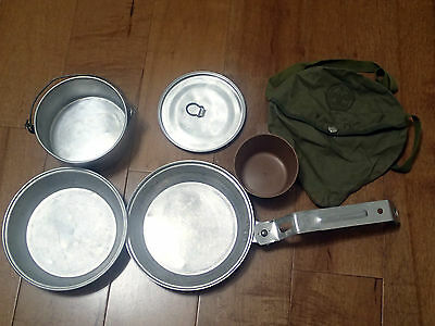 Vintage Boy Scouts of America Nat'l. Council Aluminum Mess Kit Camping Cooking