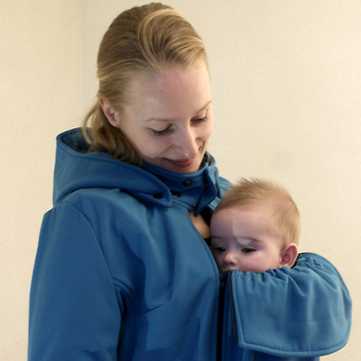 Tragejacke Umstandsjacke von Minomana all weather Softshell
