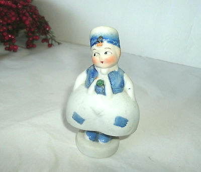Vintage Bisque Dutch Wobble Doll, Made In Japan