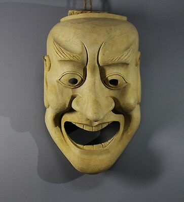 QH020 - 21x14x 8.5 cm Big Hand Carved Japanese Mask Carving