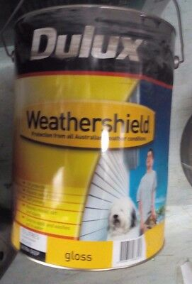 Dulux Weathersheild Gloss Exterior 10L Colorbond Wallaby Paint Can Freight B9