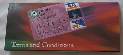 1990s Lloyds Bank Company Payment Card Terms & Conditions Leaflet Brochure
