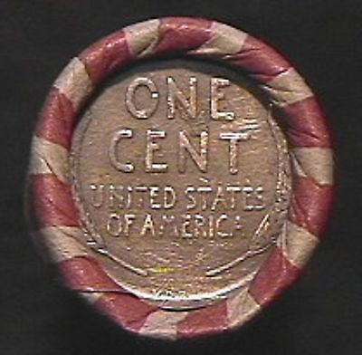 50  MIX-INDIAN & WHEAT CENT ROLL -1909 VDB  / IH TAILS ENDS- 1859 to 1958 MIXED