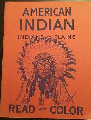 Eukabi Publishers AMERICAN INDIAN INDIANS OF THE PLAINS READ AND COLOR 1949