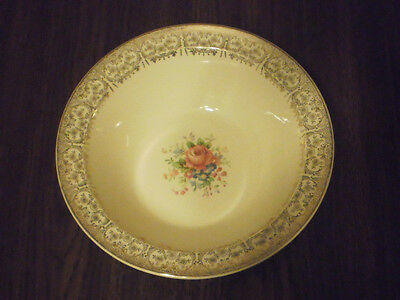 Vintage Taylor Smith Taylor Floral Gold Trim Round Serving Bowl