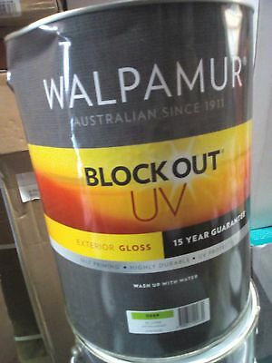Walpamur Gloss Uv Exterior 10L Colorbond Paperbark Paint Walls Fence Can Freight