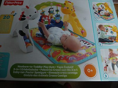 Fisher-Price - Newborn to Toddler Play Gym - Baby Activity Centre - Suitable 0+