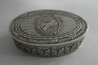 Beautifully Decorated Victorian Antique Silver Snuff Box J&R